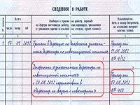 Внесение записи в трудовую книжку при изменении штатного расписания